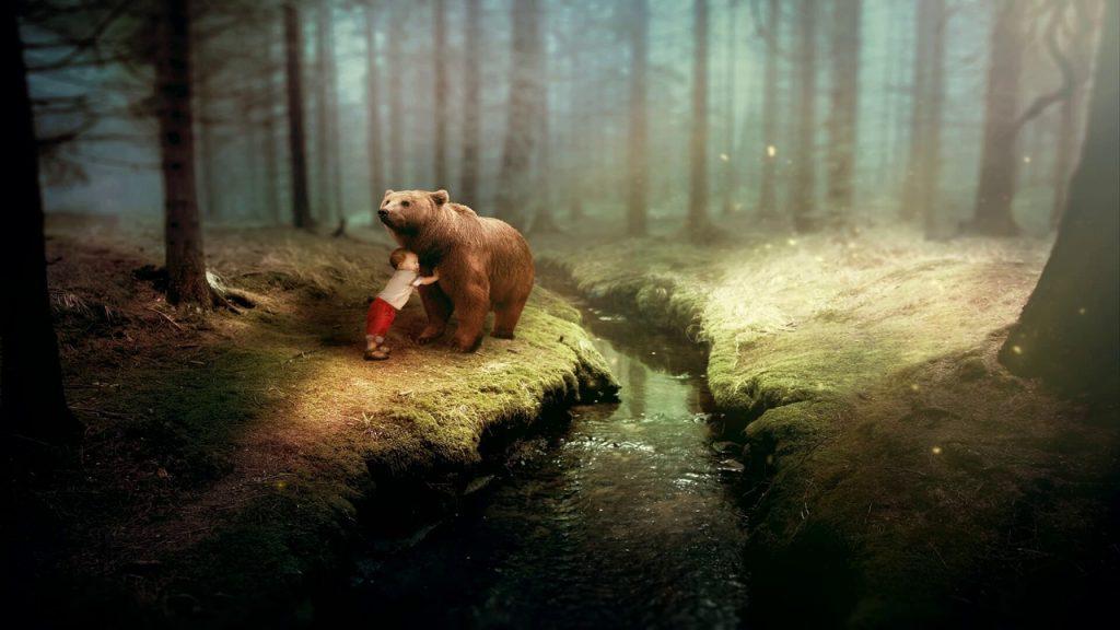 Дружба Димы и медведя