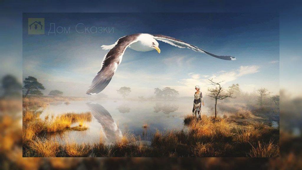 Древняя хищная птица Урарту и девочка Мирту